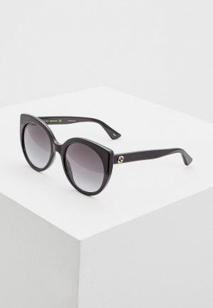 Очки солнцезащитные Gucci GG0325S001. Цвет: черный