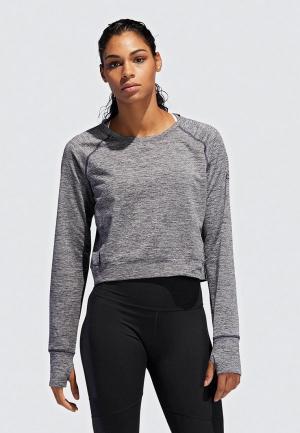 Свитшот adidas OPEN BACK CU. Цвет: серый