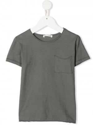 Cotton patch-pocket T-shirt Zhoe & Tobiah. Цвет: серый