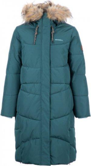 Пальто для девочек , размер 146 Merrell. Цвет: голубой
