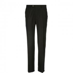 Классические шерстяные брюки Brioni. Цвет: чёрный