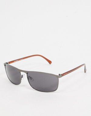 Квадратные солнцезащитные очки цвета пушечной бронзы -Серый AJ Morgan