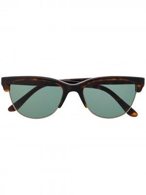 Солнцезащитные очки в D-образной оправе Cutler & Gross. Цвет: коричневый