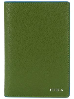Обложка для паспорта Giove Furla. Цвет: зелёный