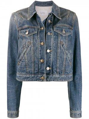 Укороченная джинсовая куртка на пуговицах Givenchy. Цвет: синий