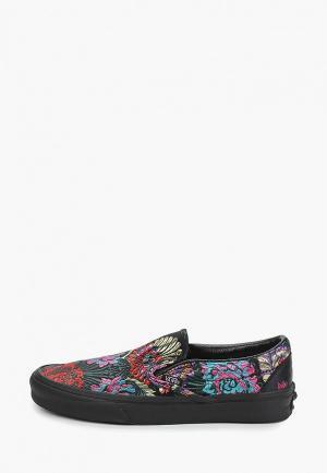 Слипоны Vans UA CLASSIC SLIP-ON (FESTIVAL SA. Цвет: черный