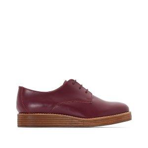Ботинки-дерби LaRedoute. Цвет: красный