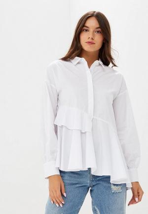 Блуза LOST INK ASYMMETRIC LAYERED SMOCK SHIRT. Цвет: белый