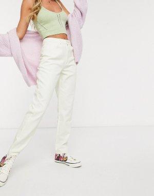 Светло-бежевые джинсы в винтажном стиле с завышенной талией -Светло-бежевый Daisy Street