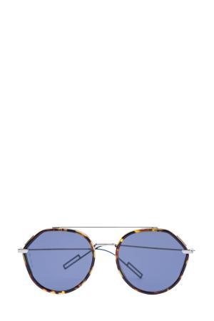 Очки Dior0219S в круглой оправе pantos цвета Écaille и двойным мостом DIOR (sunglasses) men