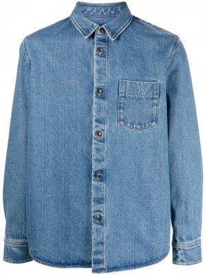 Джинсовая рубашка на пуговицах A.P.C.. Цвет: синий