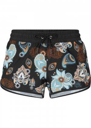Пляжные шорты bonprix. Цвет: черный
