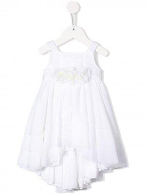 Асимметричное платье с цветочным декором Aletta