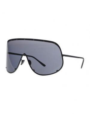 Солнечные очки RICK OWENS. Цвет: черный