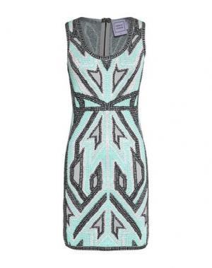 Короткое платье HERVÉ LÉGER. Цвет: светло-зеленый