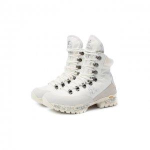 Комбинированные ботинки Premiata. Цвет: белый