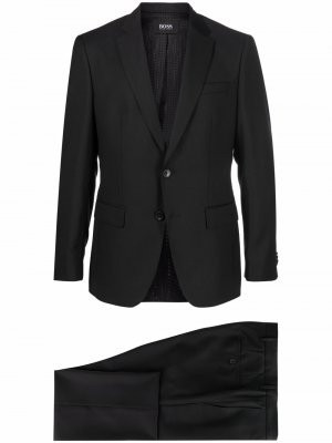 Шерстяной костюм-двойка Boss Hugo. Цвет: черный