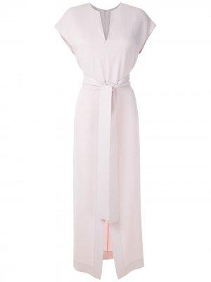 Платье миди с завязками на талии Gloria Coelho. Цвет: фиолетовый