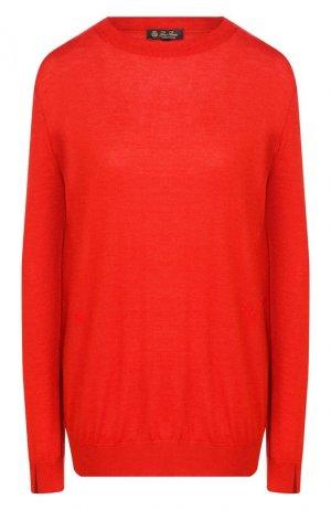 Пуловер из смеси кашемира и шелка Loro Piana. Цвет: красный