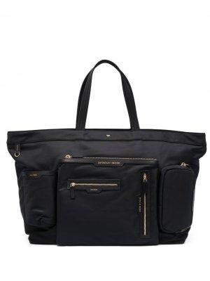 Дорожная сумка с карманами Anya Hindmarch. Цвет: черный