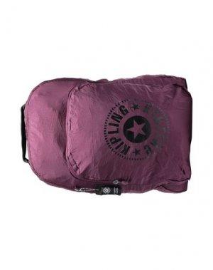 Рюкзаки и сумки на пояс KIPLING. Цвет: баклажанный