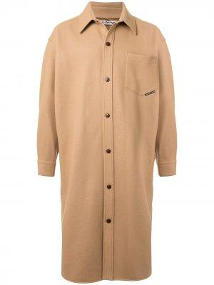 Пальто свободного кроя Alexander Wang. Цвет: коричневый