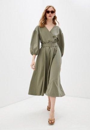 Платье Bezko. Цвет: хаки