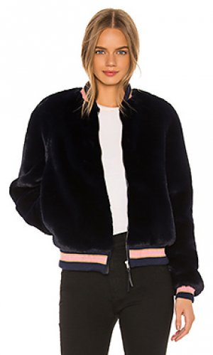 Куртка из искусственного меха the letterman MOTHER. Цвет: синий