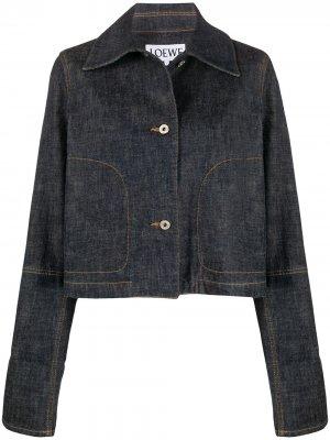 Джинсовая куртка свободного кроя Loewe. Цвет: синий