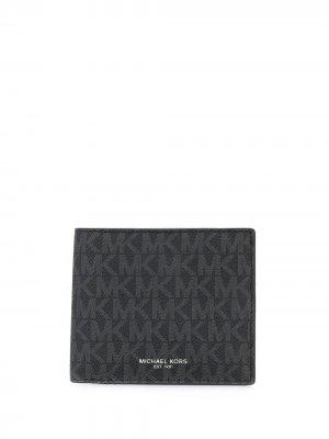 Бумажник с логотипом Michael Kors. Цвет: черный
