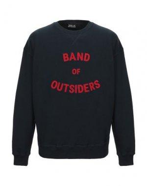 Толстовка BAND OF OUTSIDERS. Цвет: темно-синий