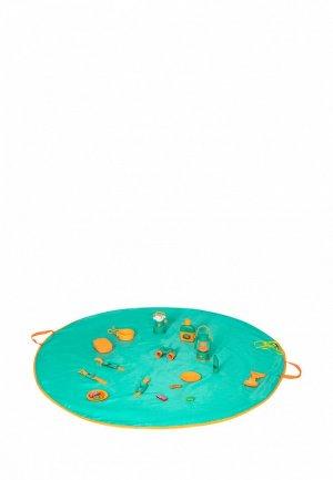 Набор игровой Givito для пикника детская посуда Туриста 19 предметов. Цвет: бирюзовый