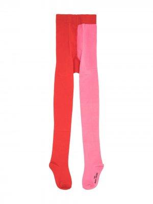 Двухцветные колготки The Marc Jacobs Kids. Цвет: красный