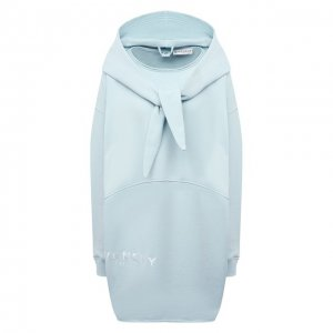 Хлопковое худи Givenchy. Цвет: синий