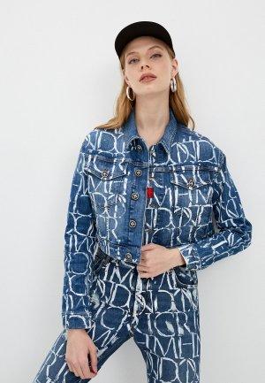 Куртка джинсовая John Richmond. Цвет: синий