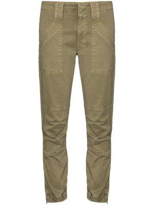 Укороченные брюки FRAME. Цвет: зеленый