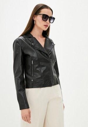 Куртка кожаная Love Republic Exclusive online. Цвет: черный
