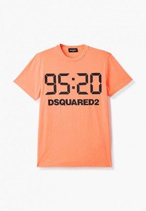 Футболка Dsquared2. Цвет: оранжевый