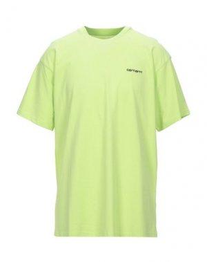 Футболка CARHARTT. Цвет: кислотно-зеленый