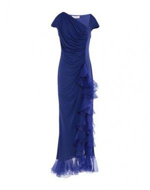 Длинное платье GAI MATTIOLO. Цвет: синий