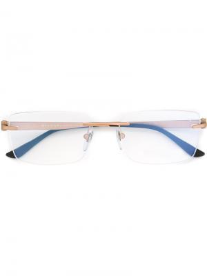 Оптические очки в прямоугольной оправе Bulgari. Цвет: черный