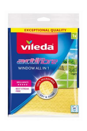 Салфетка для мытья окон, 1 шт VILEDA. Цвет: желтый