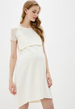 Платье домашнее Hunny mammy. Цвет: белый