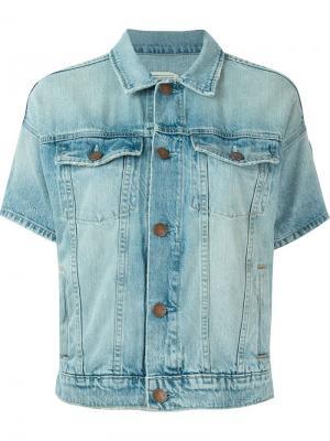 Джинсовая куртка с короткими рукавами Current/Elliott. Цвет: синий