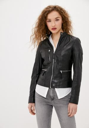Куртка кожаная Oakwood EACH. Цвет: черный
