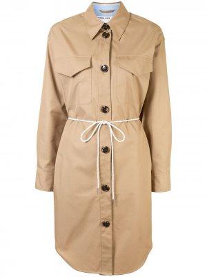 Платье-рубашка с поясом Designers Remix. Цвет: коричневый