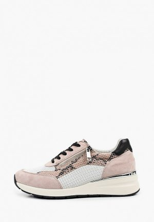 Кроссовки Caprice Увеличенная полнота. Цвет: розовый