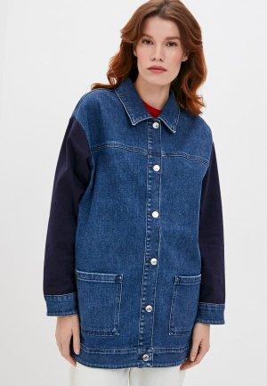 Куртка джинсовая Hugo Gerlia. Цвет: синий
