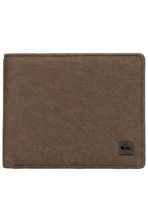 Бумажник Quiksilver. Цвет: коричневый