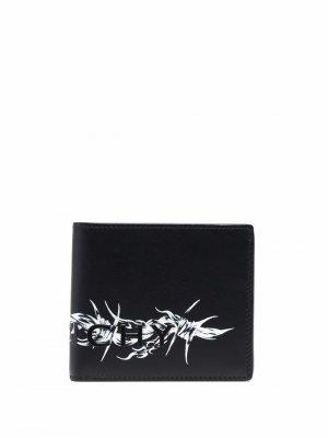 Бумажник с принтом Givenchy. Цвет: черный